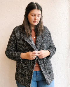 Vintage Coats - B+W and Rainbow Speckled Coat