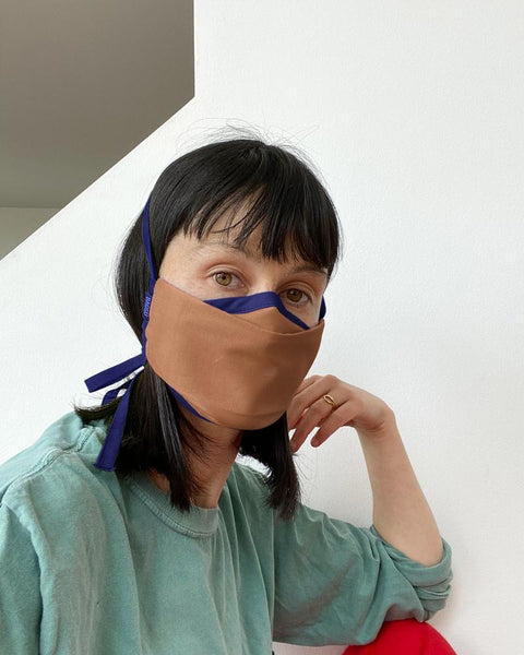 Fabric Mask Set Tie - Earth