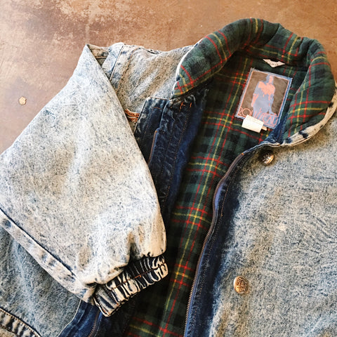 Vintage Coats - Flannel Lined Denim Coat