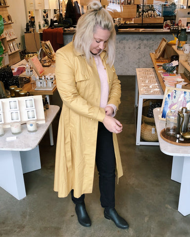 Vintage Coats - Mustard Trench Coat