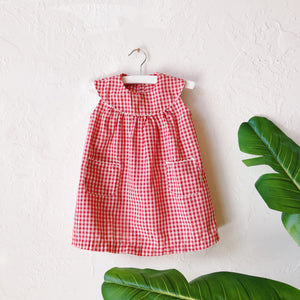 Lil Threads 01 - Red Gingham Dress with Pockets