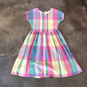 Vintage Coll. 02 - Rainbow Plaid Picnic Dress
