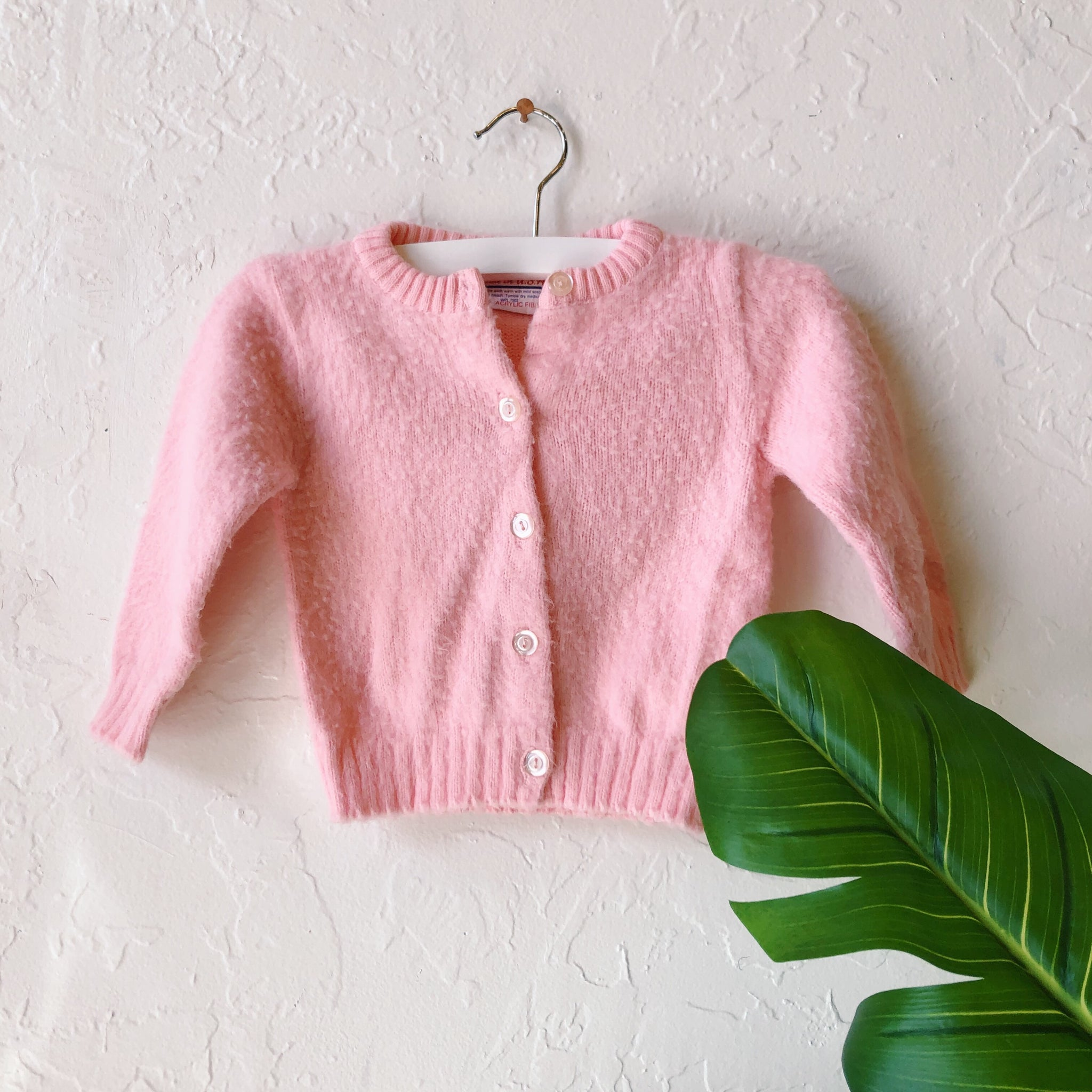 Lil Threads 01 - Bright Pink Buttoned Cardigan