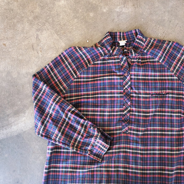 Vintage Coll. 02 - Plaid Raglan Top