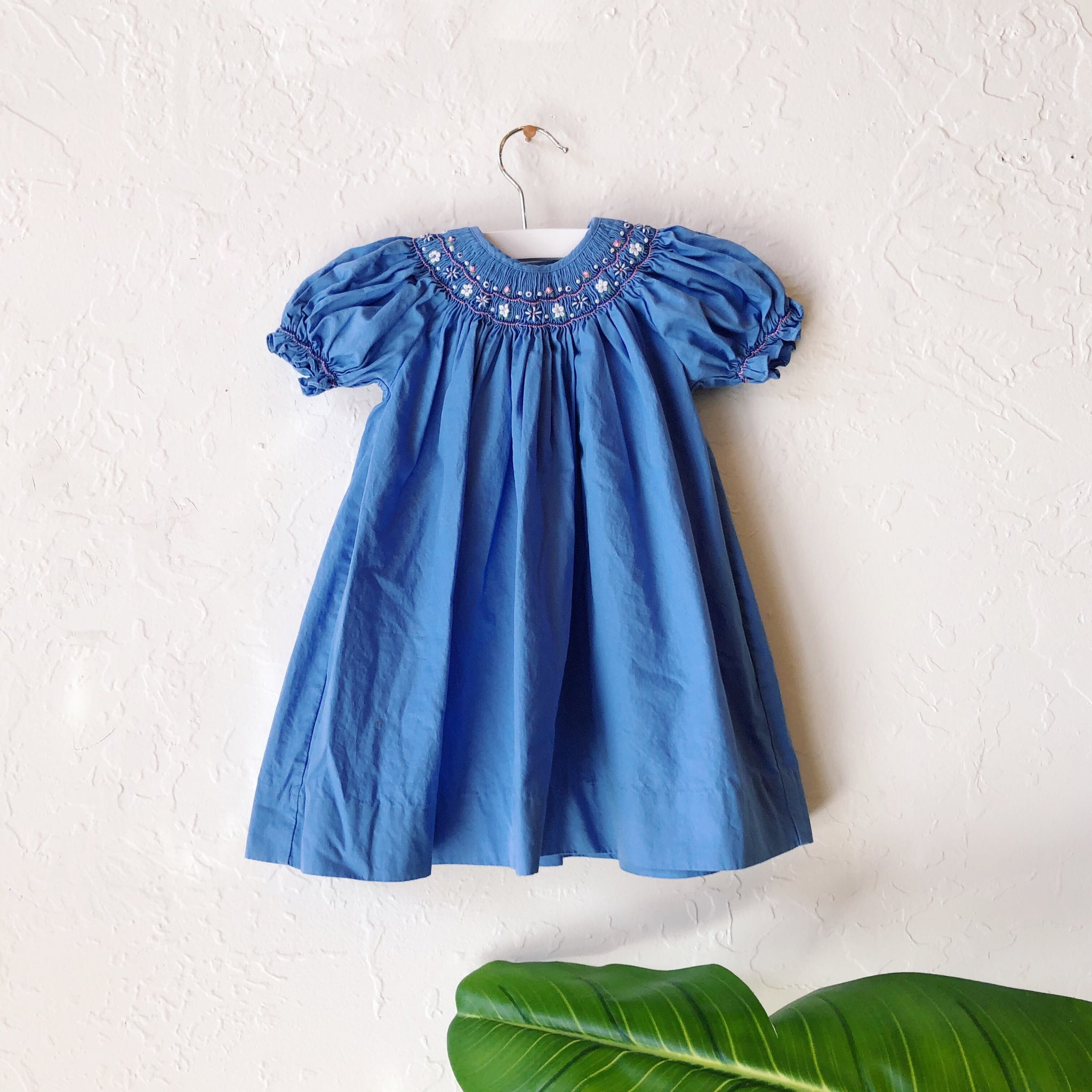 Lil Threads 01 - Blue Beaded Collar Dress with Bloomers