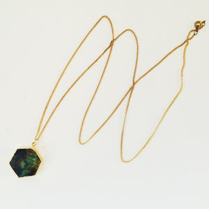 Labradorite Hex - Necklace