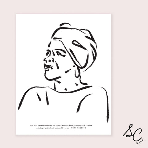 Women Prints - Maya Angelou - 11x14