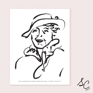 Women Prints - Eleanor Roosevelt - 11x14