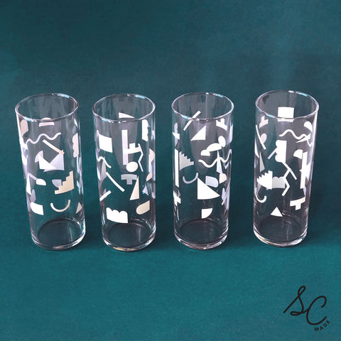 Shapes Glasses - set of 4