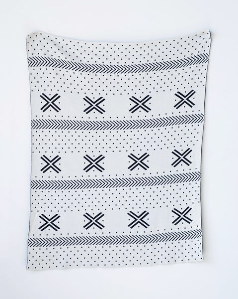 Black & White Knit Baby Blanket