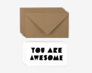 You Are Awesome - Mini Notes - Set of 10