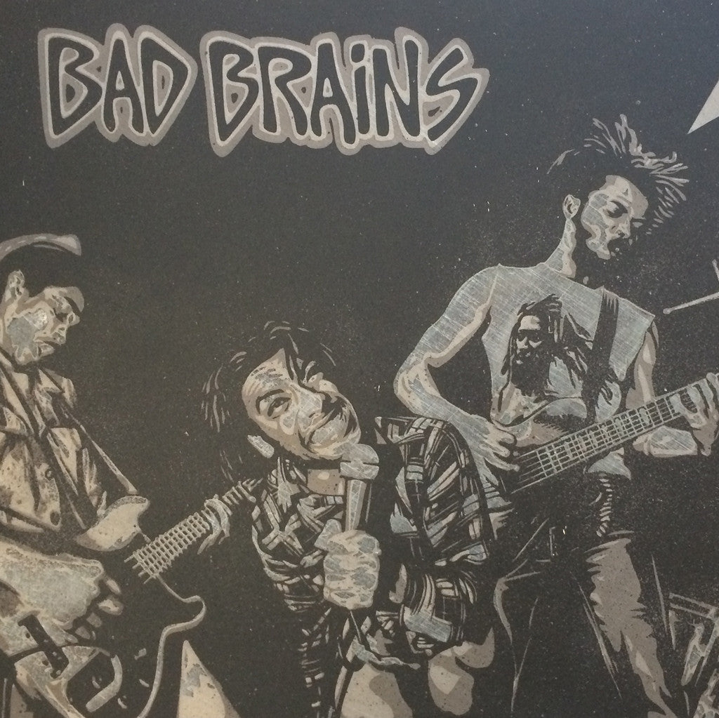 Shepard Fairey x Glen E. Friedman : Bad Brains, Original on Metal, 2009