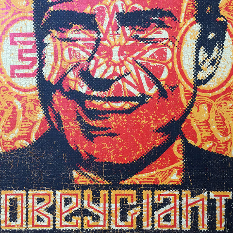 Shepard Fairey : Richard Nixon, Screenprint on Wood, 2001