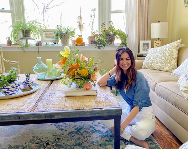 At Home With Blue Jasmine Floral + DIY Flower Arrangement