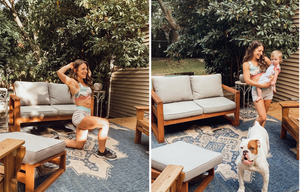 At Home With Melanie Woods + Exercises for Busy Moms