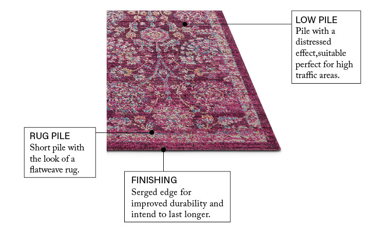 Wixby Pink Traditional Rug