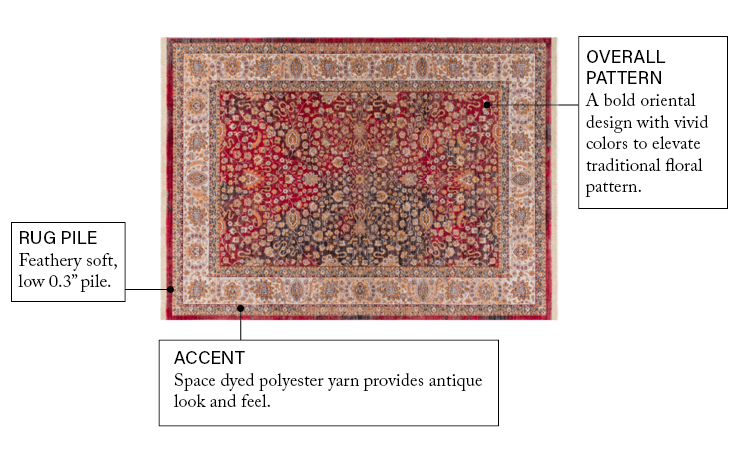 Global Treasures Emile Traditional Area Rug