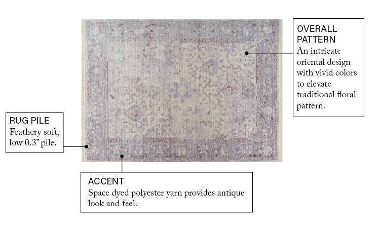 Global Treasures Marrymount Beige Vintage Rug