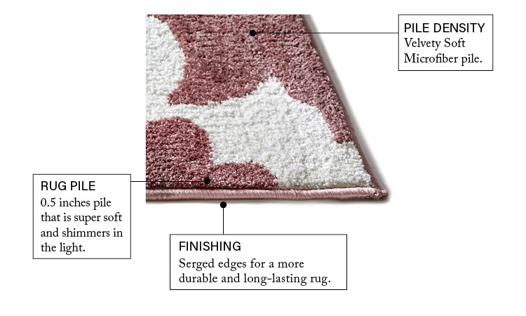 Enchanting Rose Modern Rug