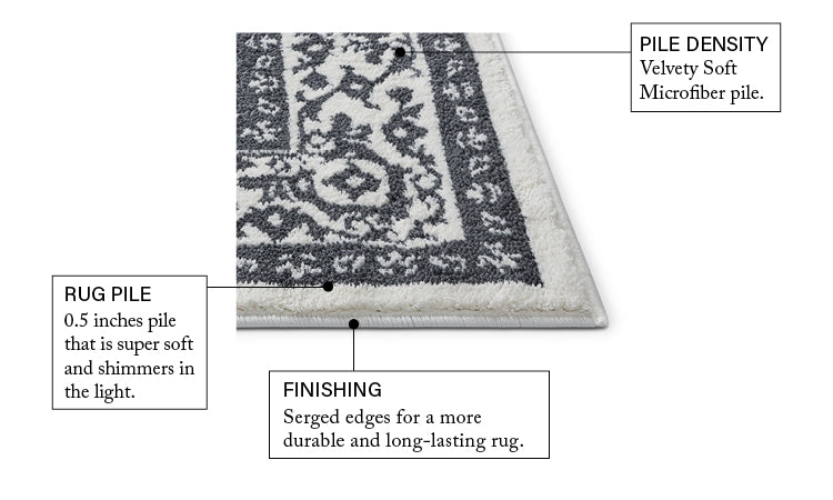Dazzling Light Grey Traditional Rug