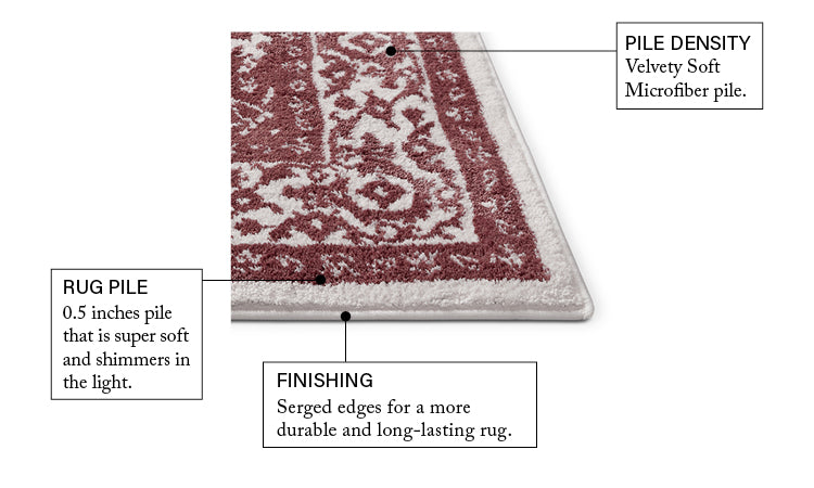Dazzling RoseTraditional Rug