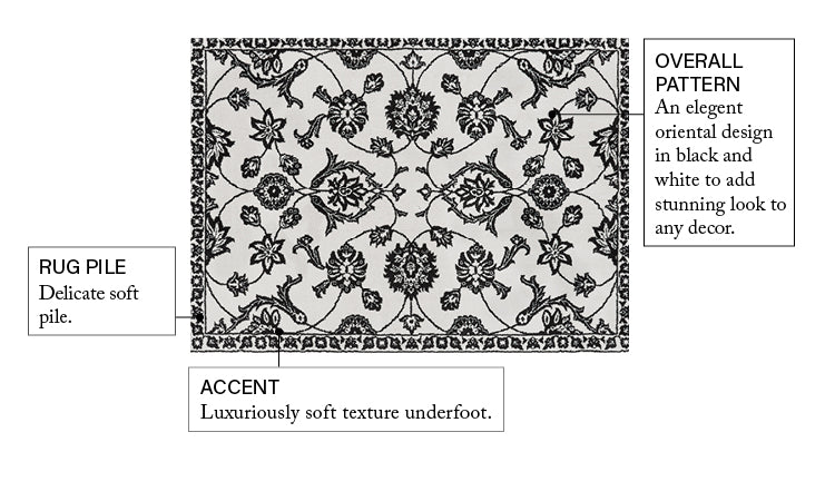 Stupendous Black Traditional Floral Oriental Rug