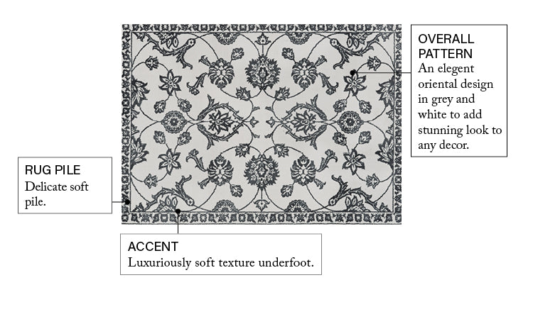 Stupendous Light Grey Traditional Floral Oriental Rug