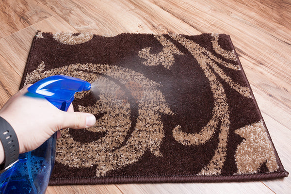 Stains from thick things like ketchup will require more cleaner to penetrate the rug fibers and break up the stain.