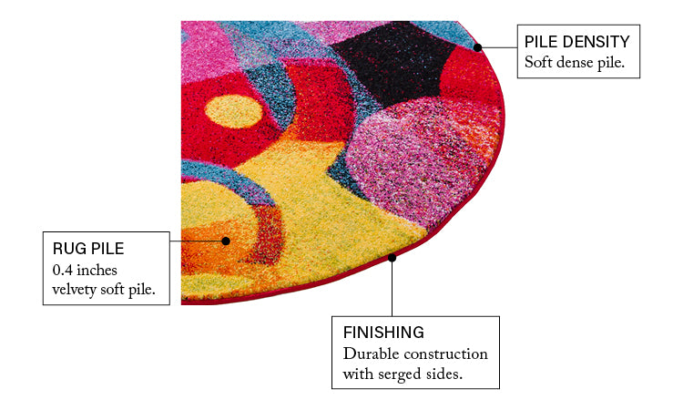 Brilliant Multi Modern Bright Rug