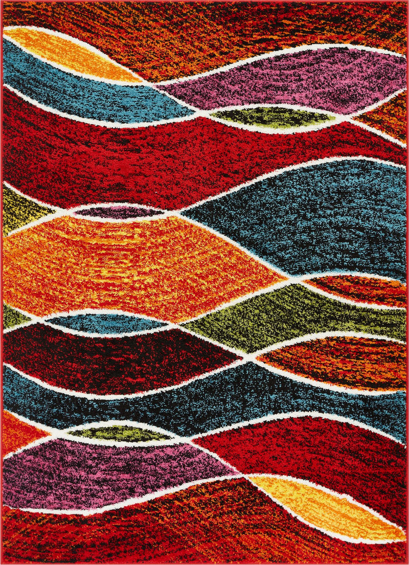 Curious Modern Waves Multi Rug