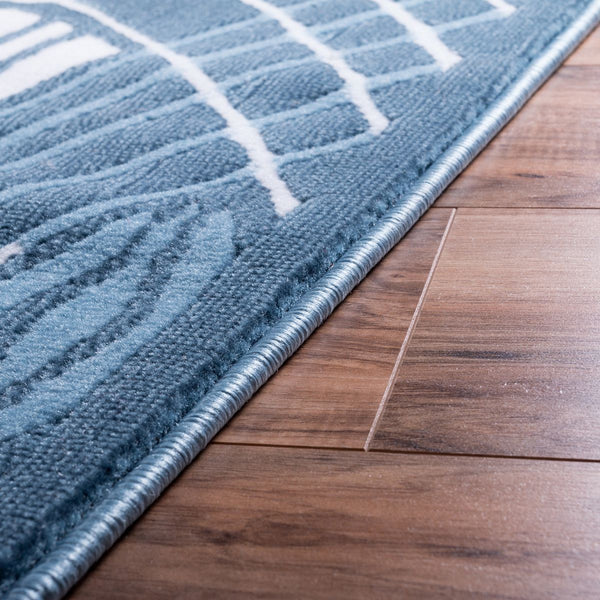 Cool Runnings Blue Modern Rug