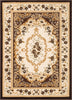 Versaille Brown Traditional Medallion Rug