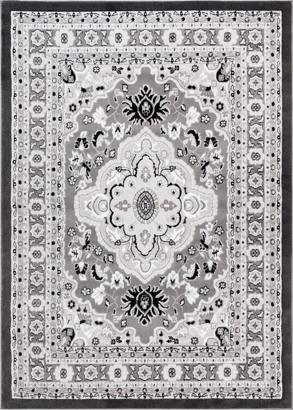 Raja Grey Medallion Rug