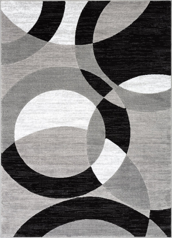 Bingo Grey Geometric Rug