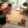 Damask Ivory Transitional Rug