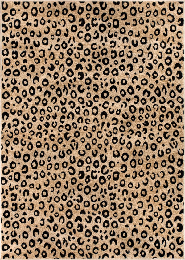 Leopard Black Animal Print Rug