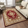Isfahan Medallion Red Traditional Rug