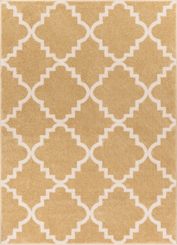 Lulu's Lattice Gold Modern Rug