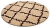 "Lulu's Lattice Ivory Modern 5'3"" Round Rug"