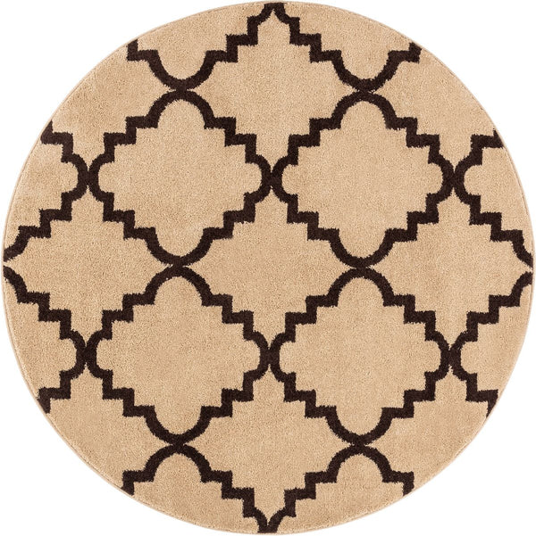 Lulu's Lattice Ivory Modern Round Rug