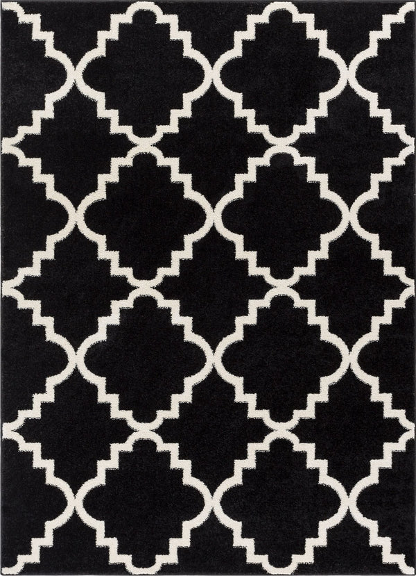 Lulu's Lattice Black Modern Rug