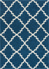 Lulu's Lattice Navy Blue Modern Rug