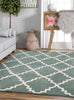 Lulu's Lattice Light Blue Modern Rug