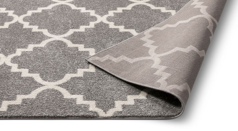 Lulu's Lattice Grey Modern Rug