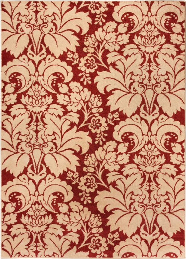Damask Toile Autumn Transitional Rug