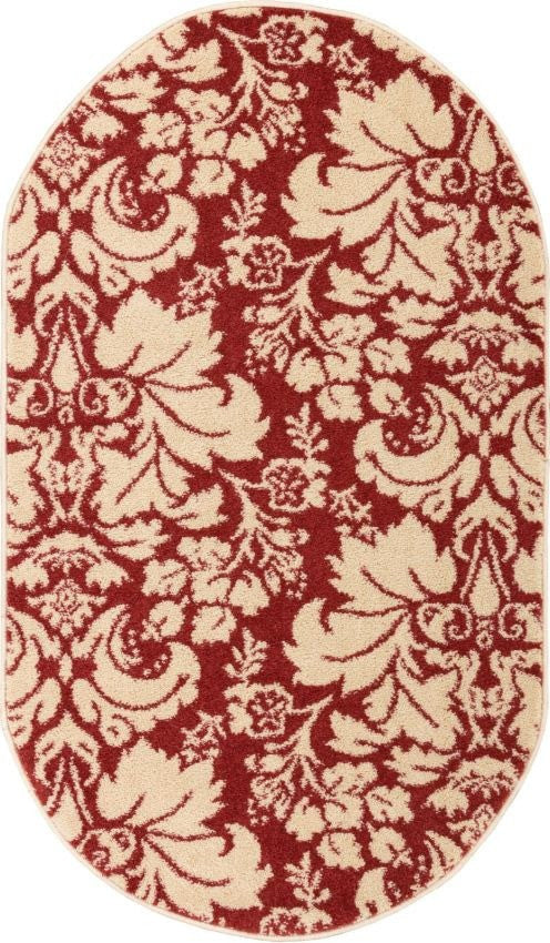 Damask Toile Autumn Transitional Rug Well Woven