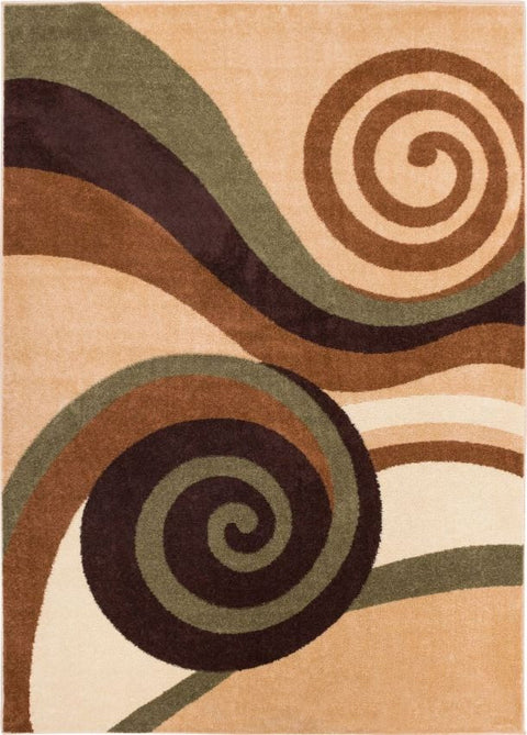 Zugilly Green Modern Rug