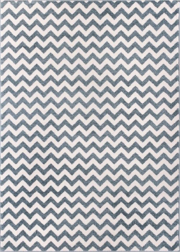 Eli Chevron Light Blue Modern Rug