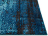 Crosby Blue Modern Distressed Rug
