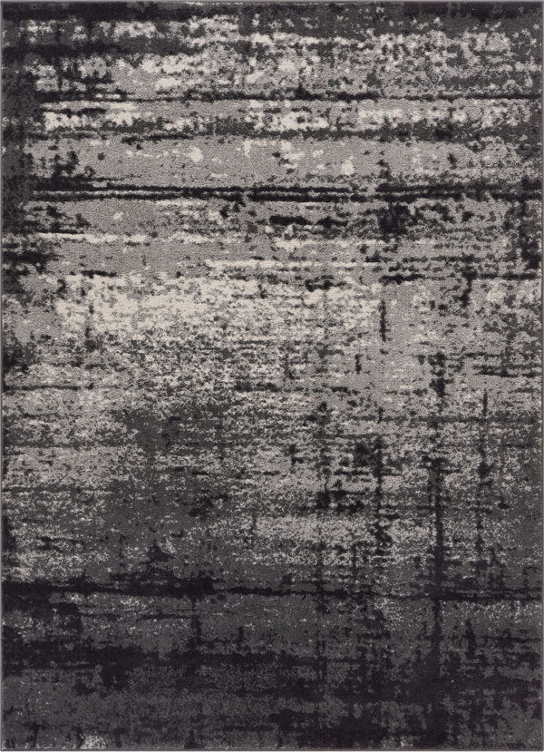 Crosby Grey Modern Distressed Rug